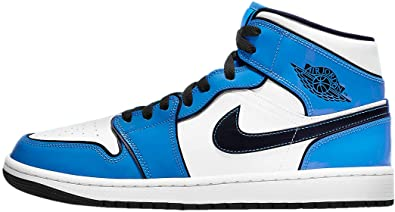 Jordan Mens Air Jordan 1 Mid SE DD6834 402 Signal Blue - Size 9.5