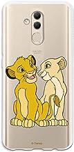 Funda para Huawei Mate 20 Lite Oficial de El Rey León Simba y Nala Silueta para Proteger tu móvil. Carcasa para Huawei de Silicona Flexible con Licencia Oficial de Disney.