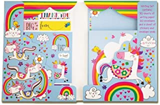 Rachel Ellen Magical Rainbow Unicorn Stationary Set