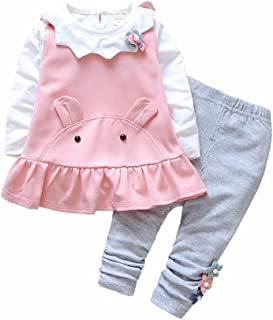 Fairy Baby 3Pcs Toddlers Baby Girls Bear Outfit Clothes Set Tops Shirts+Vest+Pant Set