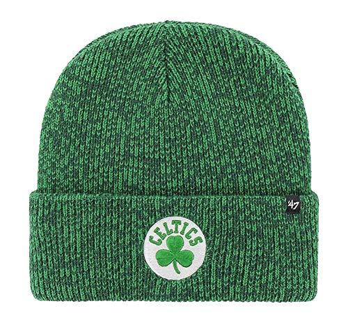 '47 NBA Brain Freeze Cuffed Knit Beanie Winter Hat, Adult (Boston Celtics Green)