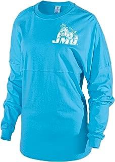 NCAA James Madison - JMU Dukes Women's Striped Oversized Football Tee