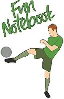 Fun Notebook: Boys Books - Mini Composition Notebook - Ages 6 -12 - Soccer Kids Book