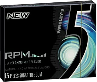 Wrigley'S 5 Gum RPM Mint, 15 Count Packages (Pack of 10)