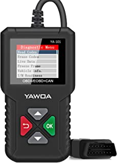 OBD2 Scanner YA-101 Enhanced OBDII Diagnostic Scan Tool Automotive Code Reader Checks Engine Light,O2 Sensor and EVAP Systems, On-Board Monitor Test(Mode 6)-Lifetime Free Update