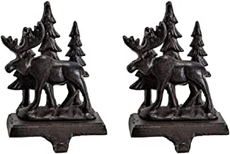 Wilderness Moose Cast Iron Stocking Holder - Set of 2