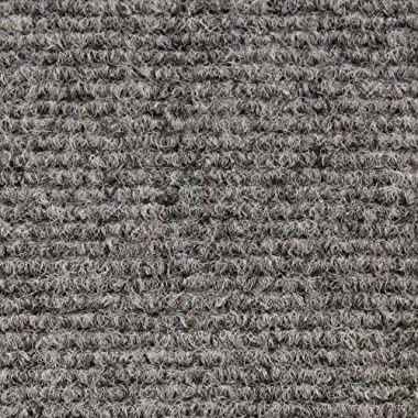House, Home and More Indoor/Outdoor Carpet with Rubber Marine Backing - Gray 6' x 15' - Several Carpet Flooring for Patio, Porch, Deck, Boat, Basement or Garage