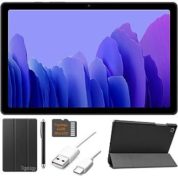 2020 Samsung Galaxy Tab A7 10.4'' (2000x1200) TFT Display Wi-Fi Tablet Bundle, Qualcomm Snapdragon 662, 3GB RAM, Bluetooth, Dolby Atmos Audio, Android 10 OS w/Tigology Accessories (32GB, Gray)