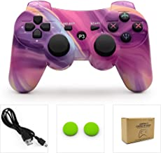 dainslef PS3 Controller Wireless Dualshock Remote/Gamepad for Sony Playstation 3 Bluetooth PS3 Sixaxis Joystick with Charging Cable (Aurora)