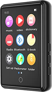 MP3 Player with Bluetooth 5.0, 16GB High Fidelity Lossless Sound Quality Music Player, 2.4 Inch Full Touchscreen,16g