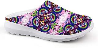 Pantuflas para Mujer con diseño Sencillo de patrón, Unisex, para Adultos, para el Tiempo Libre, de Malla
