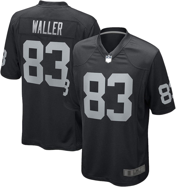 Black ZDFG Mens Darren #83 Rugby Jersey Waller Outdoor Las Sports Vegas T-Shirt Raiders Game Jersey American Football Traning Jersey