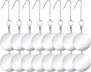 Monarchy Solutions Premium Metal Bird Deterrent Discs 16 Discs Set Reflective Hanging Device to Keep Birds Away Like Woodp...