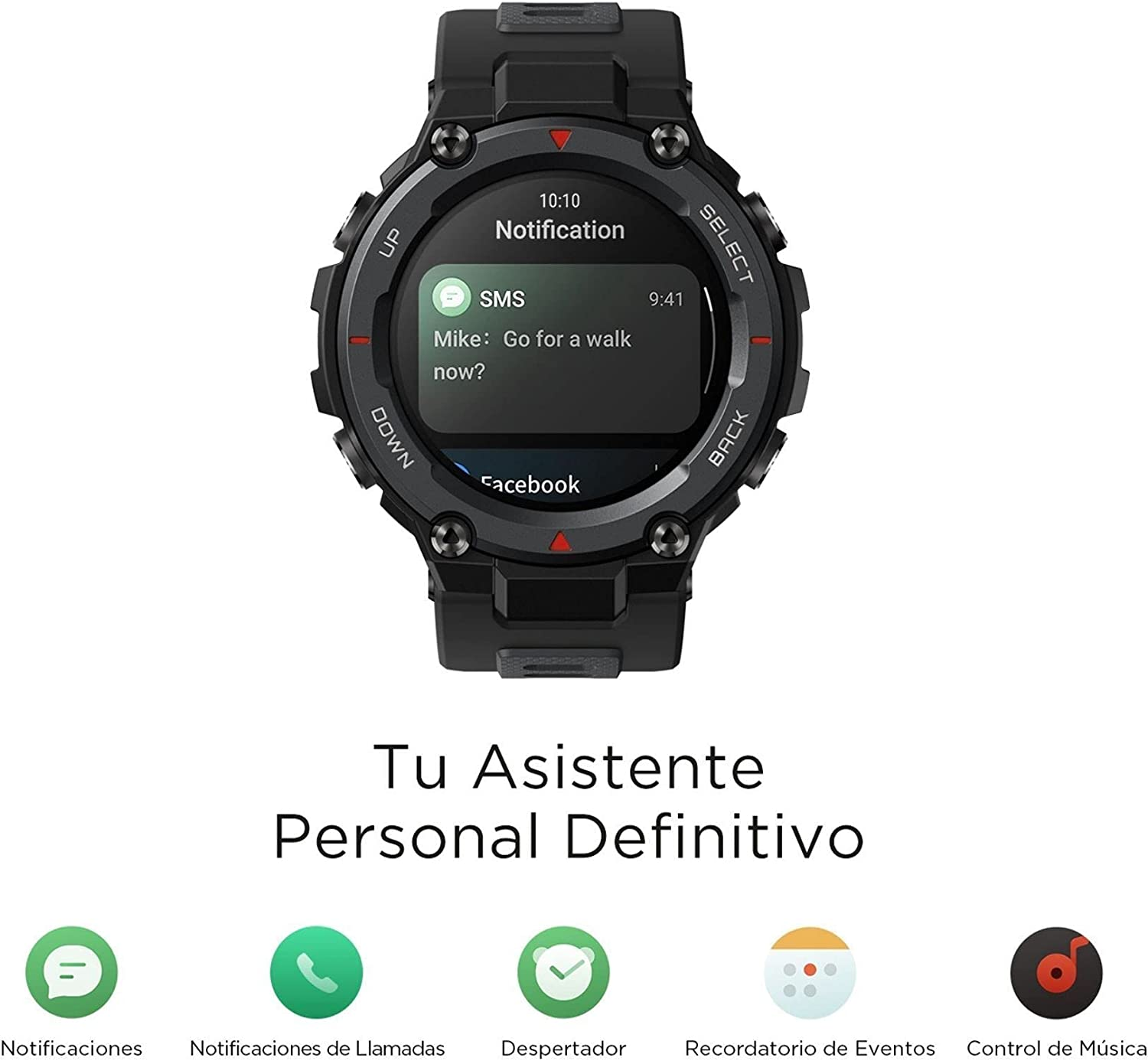 Buy Amazfit T-Rex Pro Smartwatch Fitness Watch with Built-in GPS, Military Standard Certified, 18 Day Battery Life, SpO2, Heart Rate Monitor, 100+ Sports Modes, 10 ATM Waterproof, Music Control, Black Online in