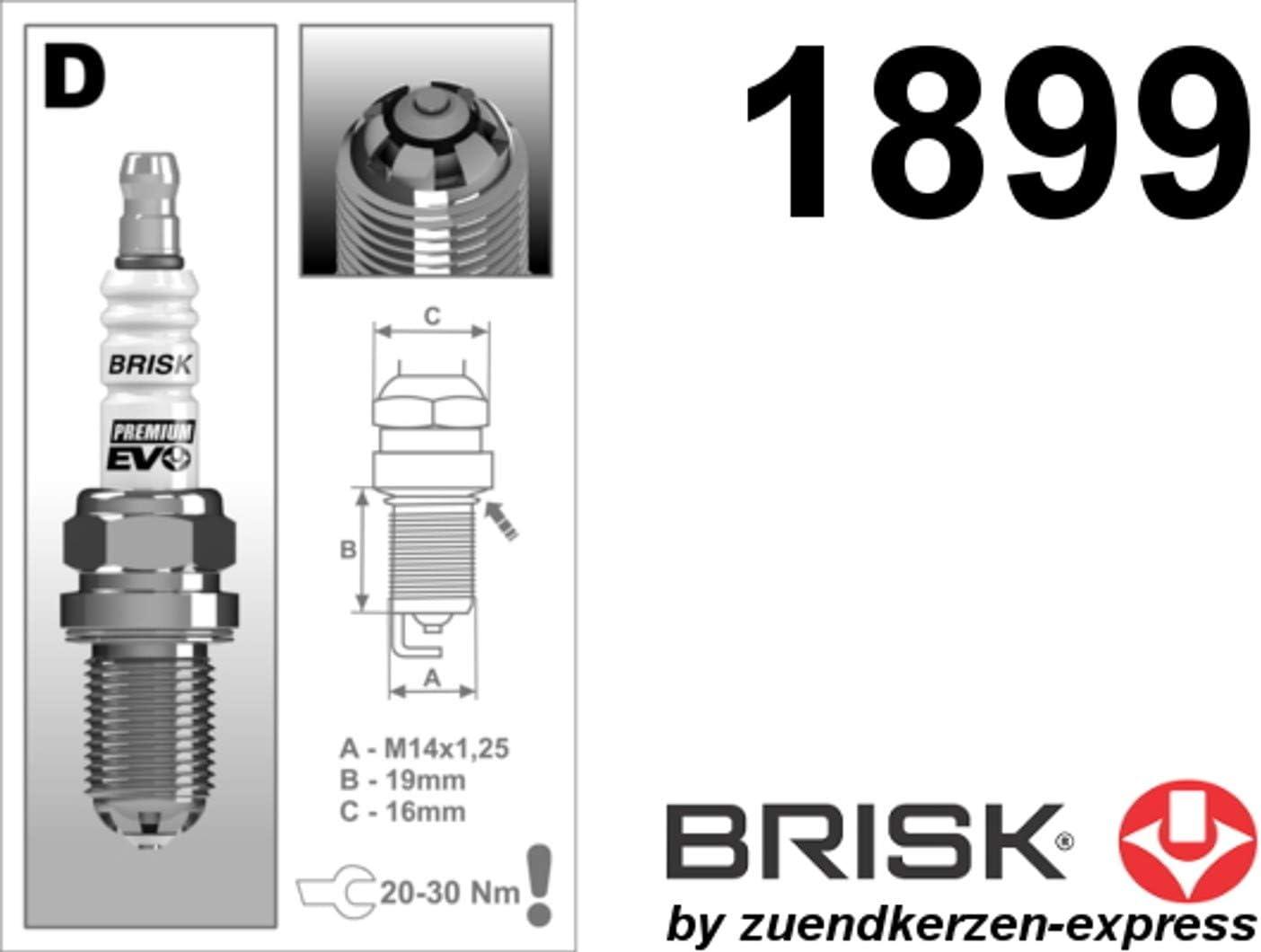 Brisk Sale Premium Evo Dr17sxc 1899 Zündkerzen 8 Stück Auto