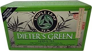 Triple Leaf Tea Dieters Green Tea, 20 Tea Bags, (pack of 3)