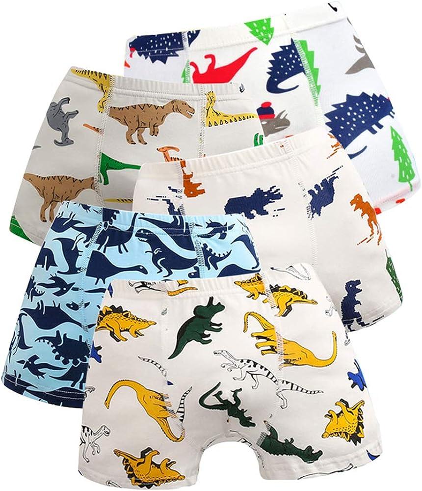jiaboy Boys Underwear, Dinosaur Cotton Little Boys Boxer Briefs Toddler Boy Underwear