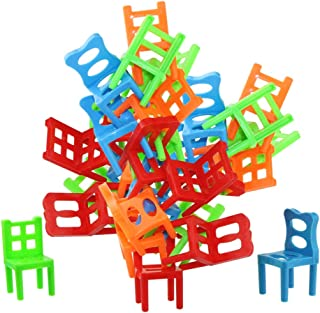 Jenilily バランスゲーム おもちゃ 椅子パズル 積み木 知育玩具 パーティー テーブルゲーム プレゼント 18ピース
