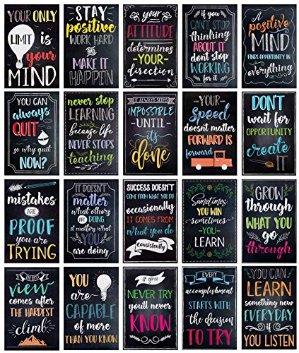 Juvale Teacher Supplies for Classroom, Motivational Posters (13 x 19 in, 20 Pack)