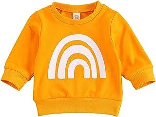 Lamuusaa حديثي الولادة الرضع بنات بنين كم طويل أعلى كتابة مطبوعة بلوزات صوفية قمصان بلوزة ملابس الخريف الشتاء