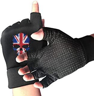 Bicycle Shockproof BMX Heartbeat Half Finger Short Gloves Outdoor Sports Riding Gloves