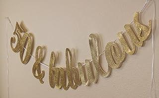All About Details 50 & Fabulous Cursive Banner (Gold)
