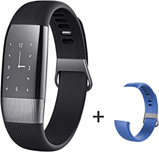 HYON Smart Band Fitness Tracker Heart Rate Blood Pressure Monitor Pedometer Step Counter Activity Watch with Replacement Band, Best Gift for Men