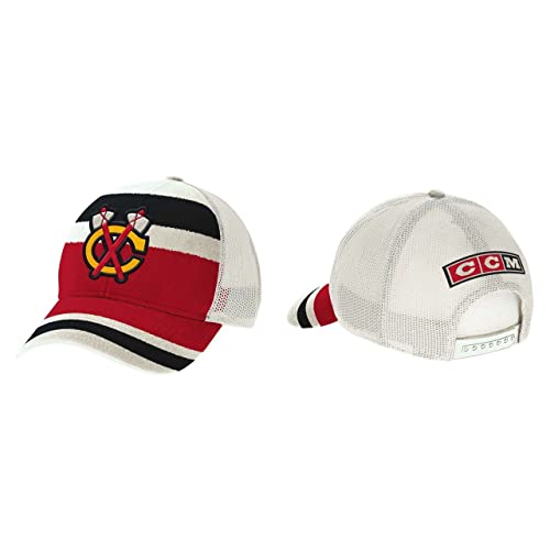 d497af76410 Chicago Blackhawks CCM 2017 Winter Classic Meshback Trucker Adjustable Hat  - Red