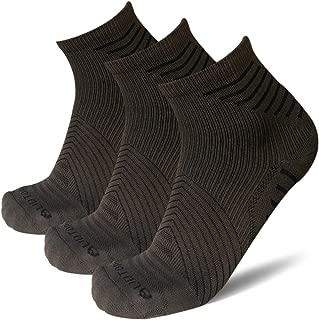 AUDTOPEM Men's Quarter Compression Running Socks (3 Pairs)