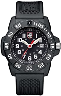 Luminox Navy Seal Mens Watch Black Dial (XS.3501/3500 Series): 200 Meter Water Resistant + Light Weight Carbon Case and Ba...
