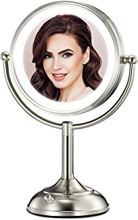 """Professional 7.5"""" Lighted Makeup Mirror, 10X Magnifying Vanity Mirror with 28 Medical LED Lights, Senior Pearl Nickel Cosm..."""