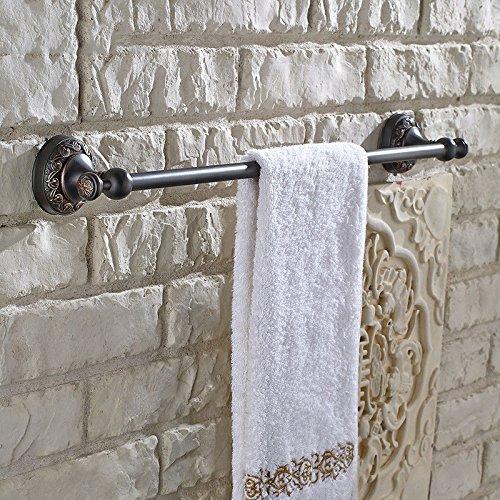 MBYW moderne minimalistische hoge dragende handdoek rek mode badkamer handdoekenrek Europese retro antieke koperen badkamer handdoek bar handdoek rek wassen handdoek rek enkele paal opknoping staaf, 61.5cm