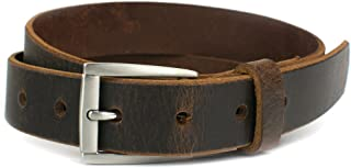Child's Roan Mountain Distressed Belt - Nickel Smart - Youth Genuine Full Grain Brown Leather Belt with Nickel Free Buckle