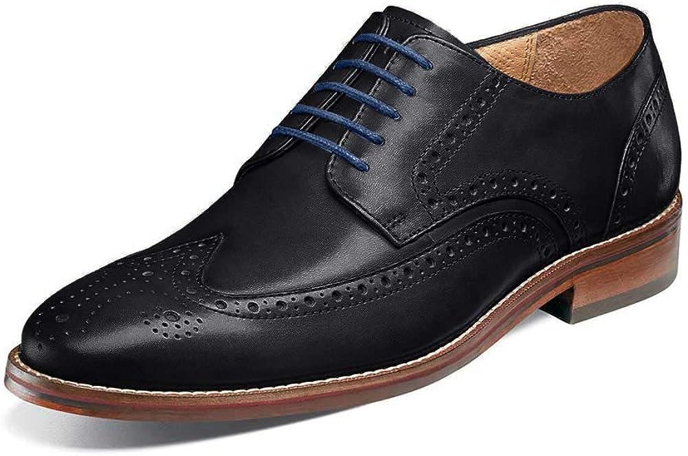 Florsheim Men's Salerno Wingtip Oxford, Black, 14 Wide