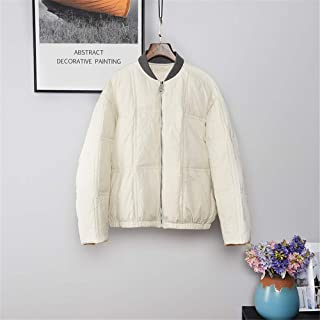 New Down Jacket Women Ultralight White Duck Down Coat Lightweight Warm Simple Stylish Jacket Water Resistant Coats,White,S