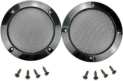 "10 pcs Speaker Grills Cover Steel Mesh Protective Case with 10 pcs Screws for  10 mm Outer Speaker Mounting - 10.1010""/11010mm Outer Diameter Black Speaker"