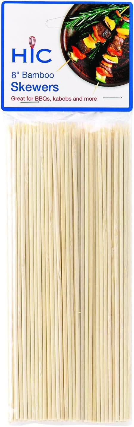 HIC Harold Import Co. Free shipping New Bamboo BBQ 2021 8 Skewers Grill Kabob and