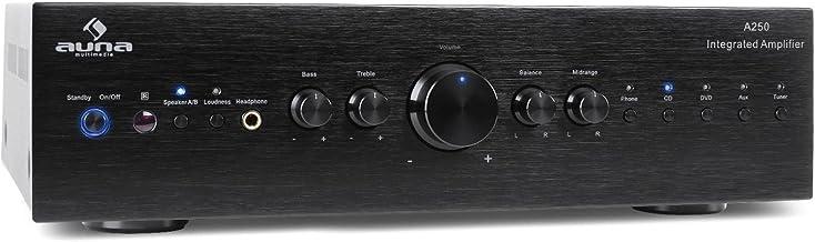 auna AV2-CD708 – Stereo HiFi Heimkino, Audio-Verstärker, 125 Watt RMS Leistung, 5..