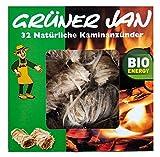 De colour verde Enero 32 Eco de chimenea para encender barbacoas de madera con diseño de encendedor de cera de lana de madera de carbón activado