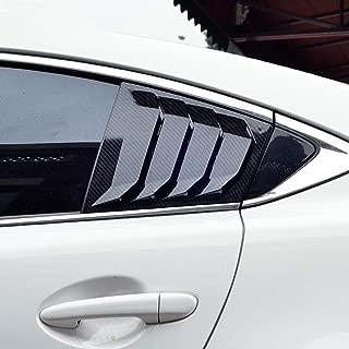 JIRENSHU Kohlefaser ABS Heckscheibe Hanlde Dreieck Sch/üssel Abdeckung Auto Styling Zubeh/ör 2 st/ücke f/ür Mazda 3 Axela 2014 2015 2016 2017