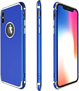 iPhone X Case, Meifigno 3 in 1 Hybrid Stylish Case,[100% Compatible with Wireless Charging], Urtal Silm Soft TPU & Hard PC Frames, Compatible for Apple iPhone 5.8
