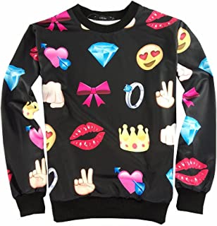 Uhomedecor Unisex 3D Emoji Joggers Sweatpants/shirts Sportswear