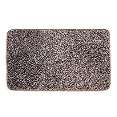Mud Trap Original Domani Super Absorbent Indoor Floor Mat 24  x 36  Brown/Tan Cotton and Microfiber Non-Slip base