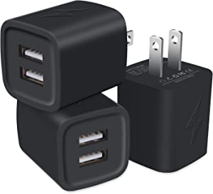 USB Charger Plug, GiGreen Fast Charging Cubes Charger Box 3Pack Power Block Compatible iPhone 12 Pro Max/SE/11/XS/8/7/6S, Samsung Galaxy S21/S20FE/S10/S9/A10e/A21/A51/A71/A80, Note 20Ultra/10, Moto G8
