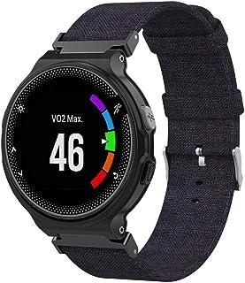 Compatible Garmin Forerunner 235 Band, Womdee Premium Canvas Fabric Replacement Strap for Garmin Forerunner 220/230 /235/630 /620 /735XT /Approach S20 /S5 /S6 Smart Watch