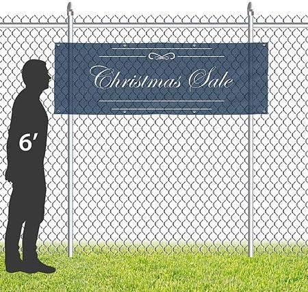 CGSignLab Classic Navy Wind-Resistant Outdoor Mesh Vinyl Banner 9x3 Christmas Sale