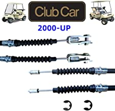 No. 1 accessories Club Car DS Brake Cable Kit 2000 & UP 102022101 Driver & Passenger Side Cables