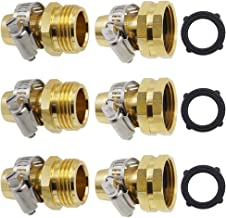 Twinkle Star Garden Hose Repair Connector with Clamps, Male and Female Garden Hose Fittings, 3 Set