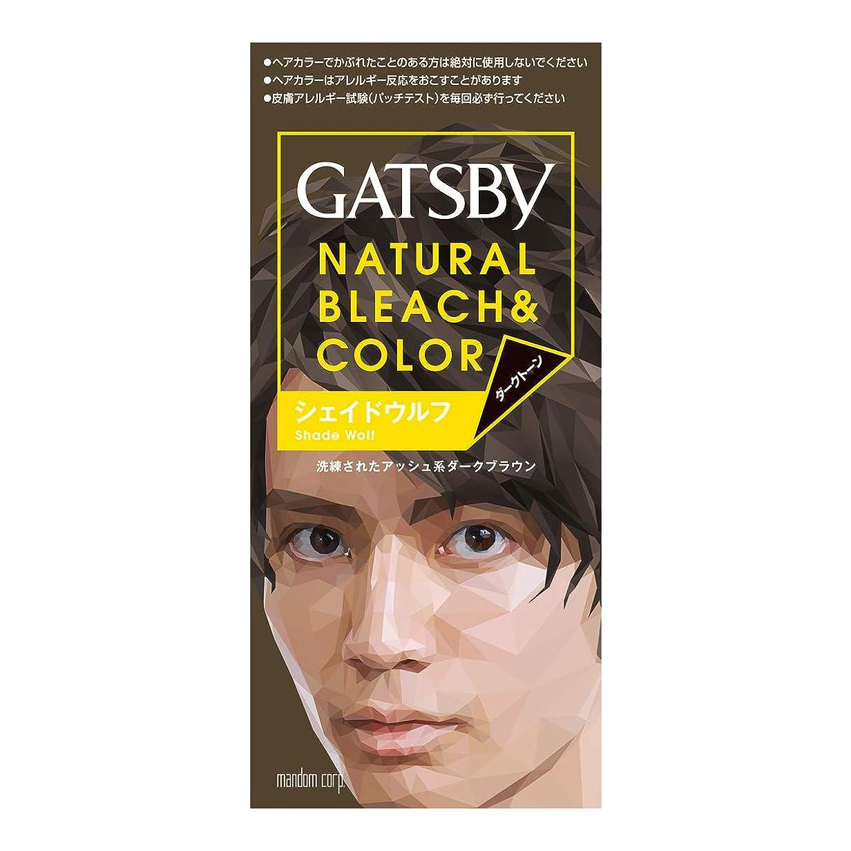 ビスケット霧深い組み立てるGATSBY(ギャツビー) ナチュラルブリーチカラー シェイドウルフ 1剤35g 2剤70mL (医薬部外品)