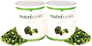 Freeze Dried Broccoli by Nutristore | Pack of 2 | 11.28 Total oz | Amazing Taste | Healthy Snack | Survival Food